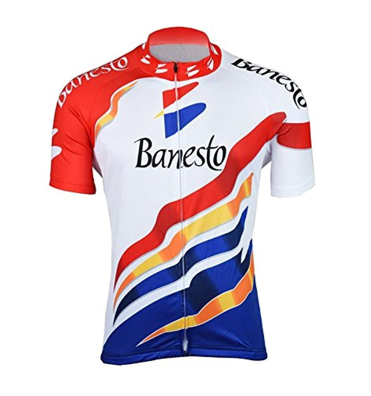 回答考え行き当たりばったりノーブランド品 サイクルジャージ レトロデザイン No19 スペイン メンズ クールマックス仕様 自転車 MTB サイクリング ロードバイク