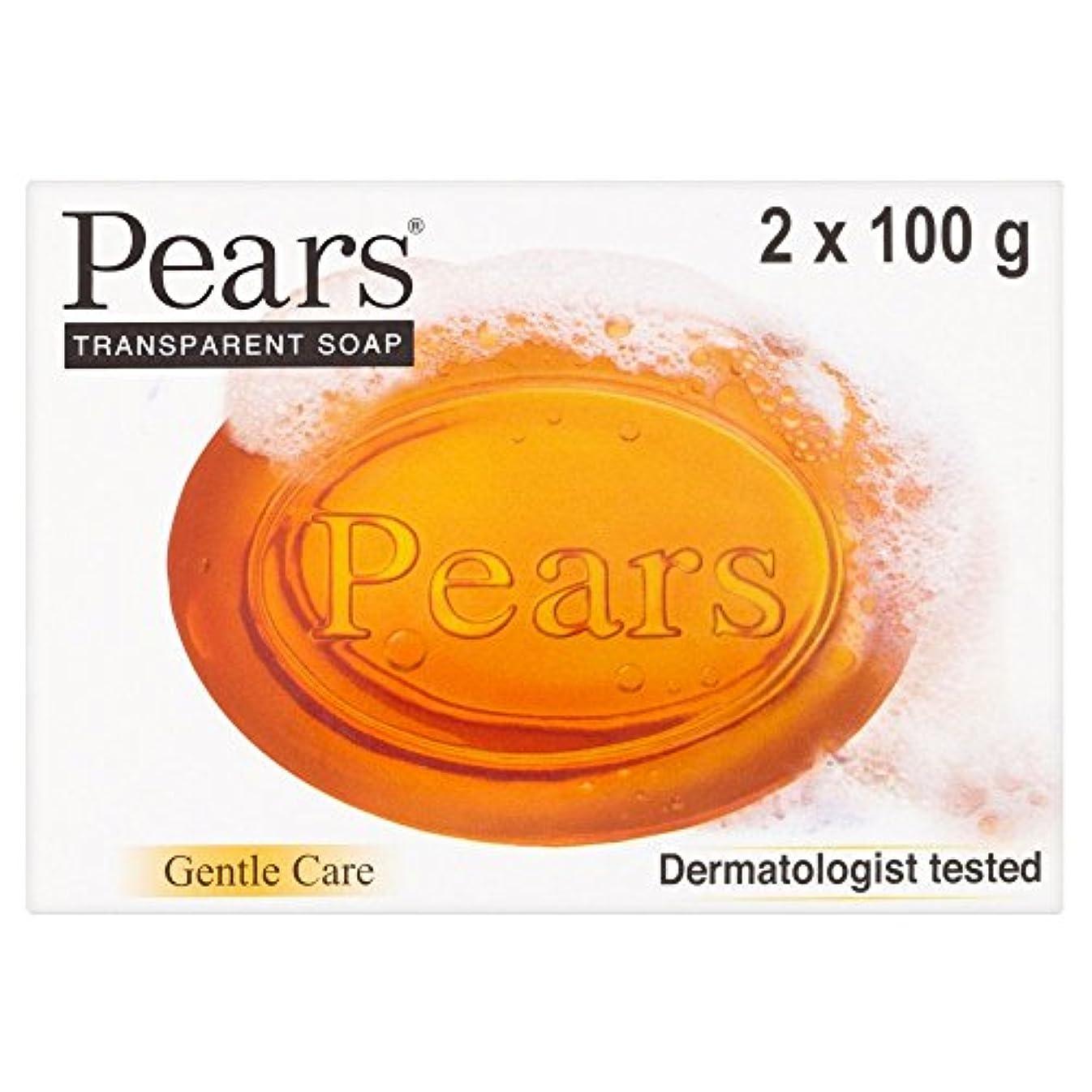 不健全雪科学者Pears Transparent Soap (2x100g) 梨透明石鹸( 2X100G ) [並行輸入品]