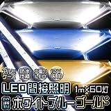 【ホワイト】 LEDテープ 100V LEDテープ防水 LEDテープ 側面発光 間接照明 LED照明ケース 100V 3Chips-SMD アルミケース入り