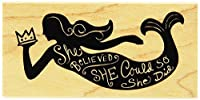 Inkadinkado She Believed Mounted Rubber Stamp 1.75 by 3.5 [並行輸入品]