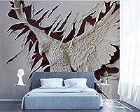 Wuyyii カスタム壁紙3Dドミネイチャーイーグルの羽テレビの背景の壁3Dのリビングルームの寝室の壁画の壁紙3 D-120X100Cm