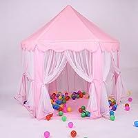 女の子プリンセス城Playhouse , Largeプレイテントインドアアウトドアfor Kids – 完璧な誕生日プレゼントの子幼児ピンク55