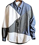 [ファンノシ]Fanessy メンズシャツ 綿麻 リネン風 ビジネス  復古スタイル ボタンダウン 襟付き 長袖 薄手 カジュアル 個性な ボタンシャツ カットソー Yシャツ 大きいサイズ