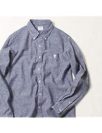 コーエン(メンズ)(coen) 綿麻シャンブレーボタンダウンシャツ