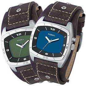 FOSSIL (フォッシル) 腕時計 KALEIDO グリーン/ブルーパネル AM3741 ユニセックス