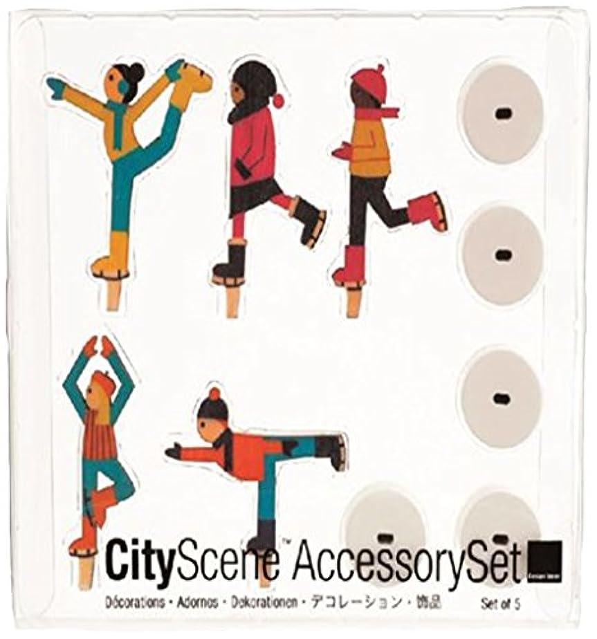 マイルドる写真を描くシティーシーンアクセサリーセット 「 アイススケーター 」