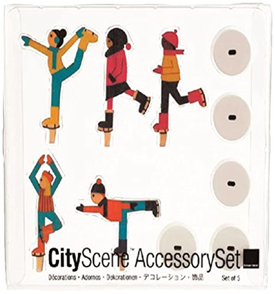 もう一度最初に類似性シティーシーンアクセサリーセット 「 アイススケーター 」