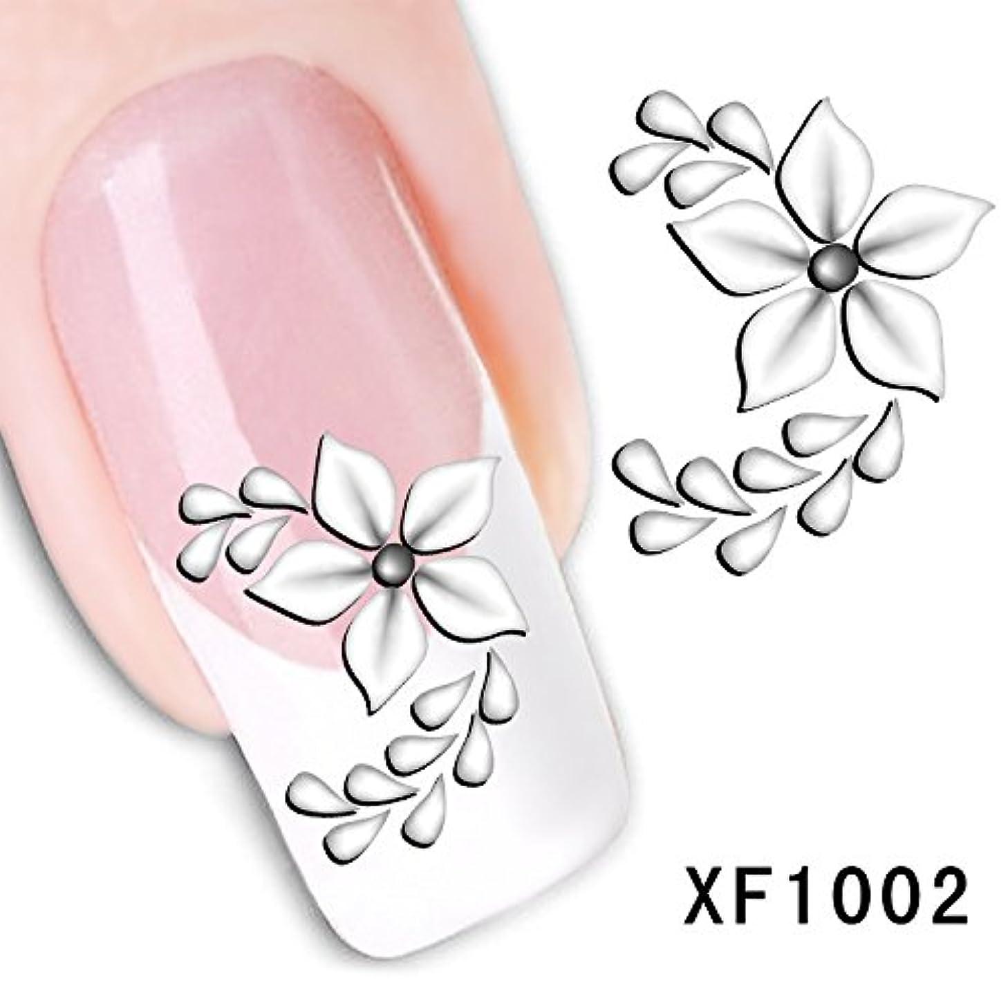 サークル契約クラッチLiTi ネイルシール 花柄 フラワー 5枚セット