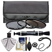 Hoya 52mm 3ピースデジタルフィルタセット(HMC UV紫外線、Circular Polarizer & nd8ニュートラル密度) withケース+クリーニングキットfor Canon、Nikon、Sony、Olympus & Pentaxレンズ