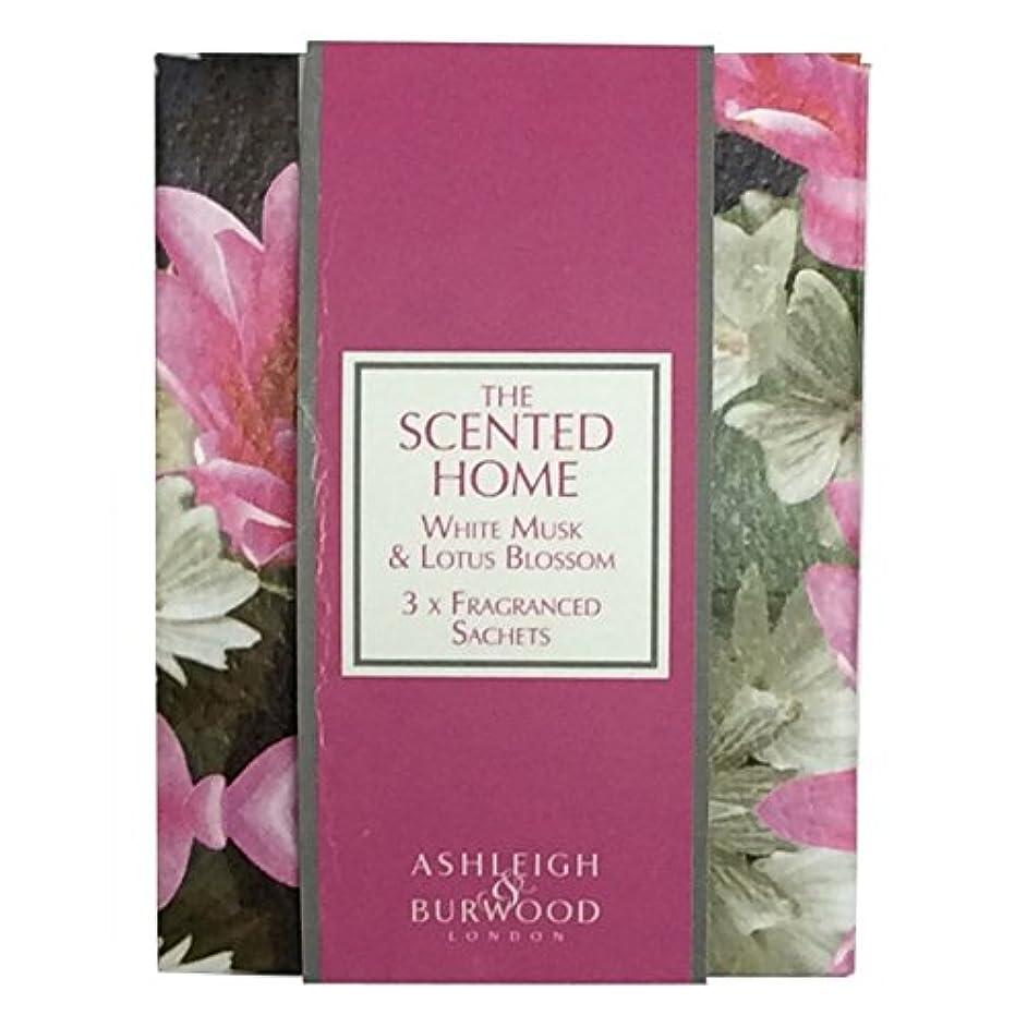 買う抹消財団Ashleigh&Burwood サシェ×3個 ホワイトムスク&ロータスブロッサム Sachet×3 WhiteMusk&LotusBlossom アシュレイ&バーウッド