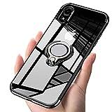 ATUSIDUN(アトストン)iPhone ケース リング 滑り防止 耐衝撃 iPhone XR 黒