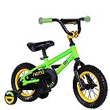 ROCKBROS(ロックブロス) 子供用 自転車 かわいい 12インチ 男の子にも女の子にも小さなお子様も運転しやすいリバースブレーキモデル児童用 お子様のこだわりにもぴったりフィットするカラー4色サイズ4種 合計16バリエーション12インチグリーン NEMO12-B グリーン 12インチ