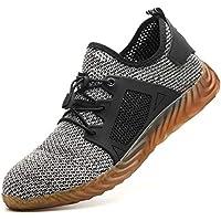 MAKEIIT Indestructible Shoes for Men Non Slip Shoes for Men Steel Toe Shoes Men Safety Shoes Composite Toe Shoes Women