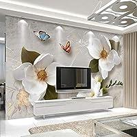 壁紙 壁カスタム壁紙3Dモダンスタイルアート壁画ヴィンテージ大きな花のリビングルームテレビの背景写真壁紙フレスコ画 ldlbz (色 : 220cm X 140cm)