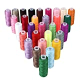 Soledi 手縫い糸 ミシン糸 手縫い糸セット 裁縫 常備糸 30色セット (60色)
