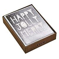 (Happy Jolly Merry) - Hallmark Studio Ink Christmas Boxed Cards, Happy Jolly Merry (12 Cards with Envelopes)