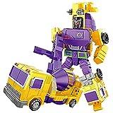 全6種 小型版 変形 合体 ロボット カー(タイプ重機) 変身 ミニカー 子供 おもちゃ 6車合体可能 キッズ ギフト (ミキサー)