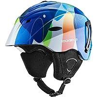 ROCKBROS(ロックブロス)スキー ヘルメット スノーボード 大人 怪我防止 防寒 保温 安全対策 調節可能 ゴーグル対応