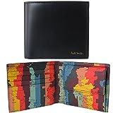 ポールスミス Paul Smith 財布 二つ折り財布 メンズ ブラック 世界地図プリント ATXC 4833 W886 79 Made in ITALY [並行輸入品]