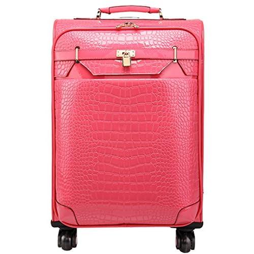 Femoooboro PUレザーキャスタースーツケース - S スイカの赤