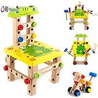 子供の知育 木のおもちゃ ごっこ遊び 大工さんセット 組み立ておもちゃ 多機能分解ツール 組合ブロック J101