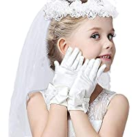 Girls Veil First Communion, First Holy Communion Veils And Gloves For Girl