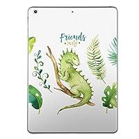 第1世代 iPad Pro 12.9 inch インチ 共通 スキンシール apple アップル アイパッド プロ A1584 A1652 タブレット tablet シール ステッカー ケース 保護シール 背面 人気 単品 おしゃれ リーフ トカゲ 緑 014722