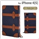 オウルテック iPhone4/4S専用フラップタイプトロリーケース ネイビー DCI-4TR-NV