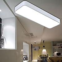 現代のLEDシーリングライト、長方形のアルミニウムフレームアクリルランプシェードバルコニーアイル天井、リビングルームの天井ライト (Color : White)