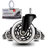 """Anyke 3"""" Office Chair Caster Wheels Swivel Heavy-Duty Replacement Fit for Most Furniture Rollerblade Style Set of 5 (Stem Siz"""