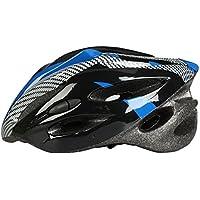 ヘルメット 大人用 自転車 サイクルヘルメット 超軽量 頭囲サイズ調整可能 頭囲54-62cm 通気孔21個 クロス ブルー