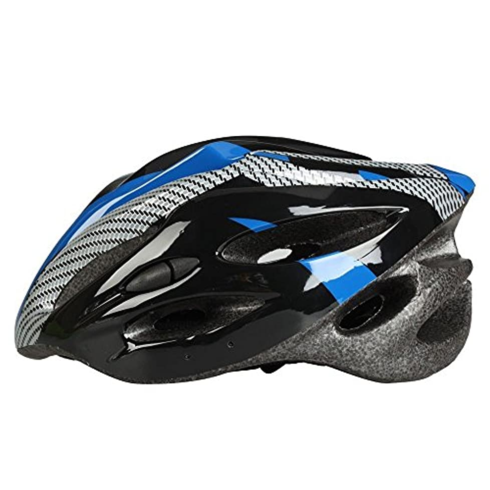 スリム爆発する不従順自転車 ヘルメット 大人用 サイクルヘルメットクロス 頭囲サイズ調整可能 頭囲54-62cm 超軽量 通気孔21個 ブルー