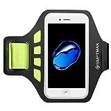 「改良版」 SUPTMAX iPhone7 Plus アームバンド iPhone 7 Plus ケース ランニング アームポーチ アイフォン7 プラス カードや鍵ポケット 防汗 調整可能 ケース付きたまま装入 (グリーン)
