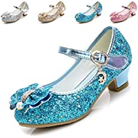 Cadidi Dinos Little Girls Dress Shoes Wedding Party Heel Princess Flower Shoes (Toddler/Little Kid/Big Kid) 10.5 M US Little Kid
