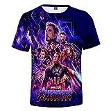 nacyvcos アベンジャーズ4:エンドゲーム 半袖 Avengers: Endgame 大人用 Tシャツ メンズ 男女 ハロウィン クリスマス イベンド M