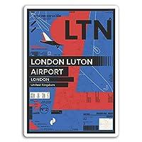 2×10センチメートルロンドン・ルートン空港ビニールステッカー - イングランド、英国英国ステッカー#17428(10センチメートルトール)