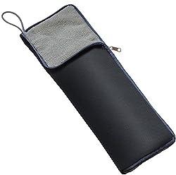 【Amazon.co.jp限定】 超吸水 マイクロファイバー 傘カバー ロング 35cm ブラック×グレー