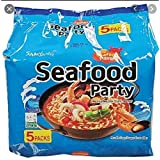 Samyang Seafood Noodle, 125g, (Pack of 5)- packaging may vary