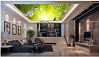 Wapel 壁フォレストピジョン天井天頂壁画 3 d の天井の壁画壁紙の 3 d のカスタマイズされた壁紙の写真の壁紙 絹の布 200x140CM