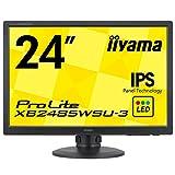 iiyama ディスプレイ モニターXB2485WSU-B3 24.1インチ/WUXGA(1920x1200)/DisplayPortx1/DVIx1/D-subx1