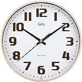 Felio(フェリオ) 壁掛け時計 チュロス アナログ表示 連続秒針 アイボリー FEW182IV-Z