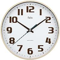 Felio 置き時計・掛け時計 アイボリー (約) 高さ22.5×幅.22.5×奥行き3.6cm