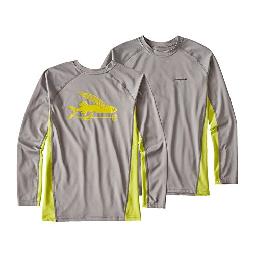 PATAGONIA(パタゴニア) BOYS' LONG-SLEEVED SILKWEIGHT RASHGUARD (110-165) ラッシュガード XS:112-118cm,DFTG GRAY