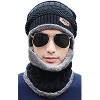 [キャプテン・ケイ] 防寒 裏ボア あったかニット帽 ネックウォーマー 2点セット メンズ
