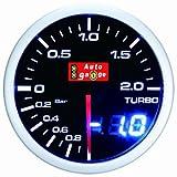 オートゲージ(AUTOGAUGE) ブースト計 SM 52Φ ホワイト/アンバーレッド アナデジ アナログ デジタル デュアルシリーズ
