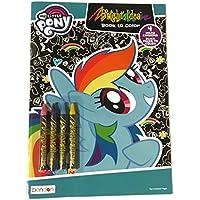 My Little Pony Bright Idea Coloring Book – Includes 4ミルキークレヨンandブラックページにカラー