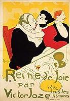 手書き-キャンバスの油絵 - 美術大学の先生直筆 - Queen of Joy post 印象主義 Henri de Toulouse Lautrec 絵画 洋画 複製画 ウォールアートデコレーション -サイズ10