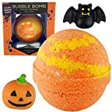 Spooky Bubble Bath Bomb for Kids with Surprise Halloween Toy Inside by Two Sisters Spa. Large 99% Natural Fizzy in Gift Box. Moisturizes Dry Sensitive Skin. Releases Color, Scent, and Bubbles.