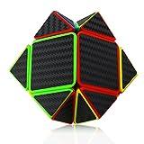 人気 スピードキューブ3x3 ステッカー 競技用 脳トレ 立体パズル  スピードキューブ (Luxury EDC Infinity Cube) キューブ  カーボンファイバーステッカー おもちゃ ストレス解消  ADD & ADHD 集中力を向上し 不安を軽減し 知育おもちゃ  (黒色, 3x3x3スピードキューブ)