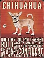Chihuahua 金属板ブリキ看板警告サイン注意サイン表示パネル情報サイン金属安全サイン
